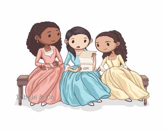 """Shop """"schuyler sisters"""" in Art & Collectibles"""