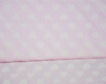 Cotton Tierno amore Hilco pink heart print