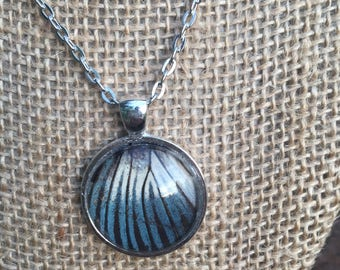 Real Blue Butterfly Wing Necklace