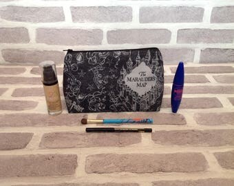 Harry Potter makeup bag, Harry potter, Marauders map, small wash bag, Harry Potter wash bag, Harry Potter make up bag, birthday gift