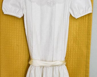 Vintage 1980s White RARE EDITIONS Girls Dress Size 8