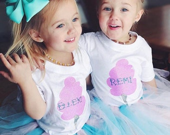 Cotton Candy Tutu Outfit~Personalized Tutu Outfit~Sweet~Tutu Outfits~Boutique~Tiny Fashion