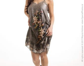 Silk dress slip dress silk slip dress shift dress floral dress summer dress sleeveless dress 90s slip dress silk cami dress printed dress