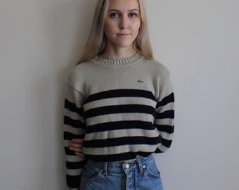 Lacoste Striped Pullover Sweater