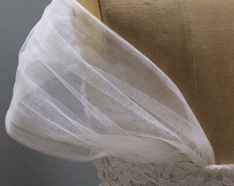 DETACHABLE ruched tulle wedding dress STRAPS ivory white black bolero shawl bridal cape jacket lace sleeves strapless corset ballgown