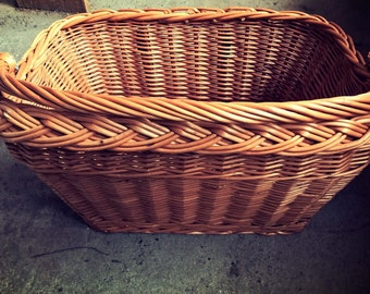 Sale ! Brown wicker bike basket