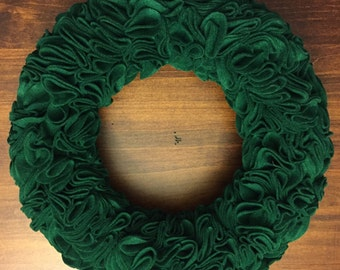 Green Felt Wreath