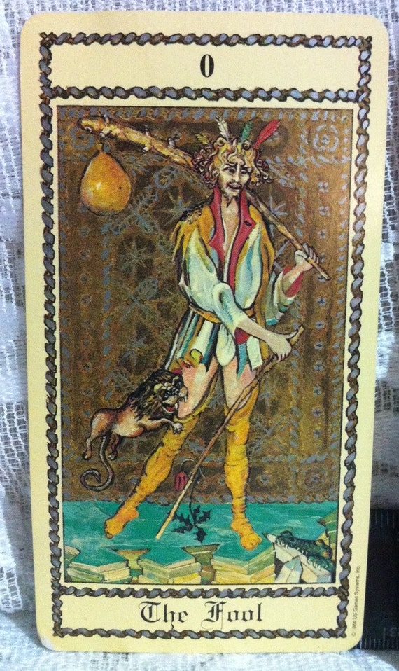 Medieval Tarot Digital Printable Collage Sheet Vintage: The Medieval Scapini Tarot Replacement Card THE FOOL
