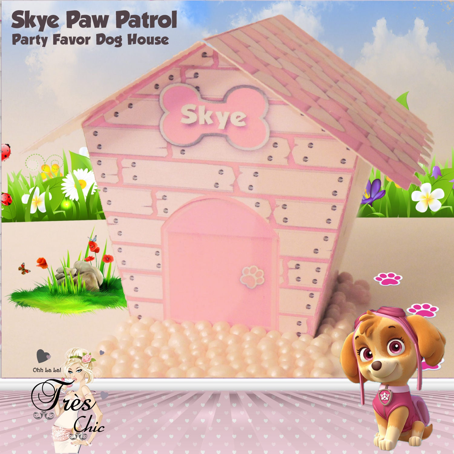 Skye Paw Patrol Party Favor Dog Housepaw Patrolskye Party