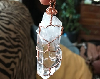 Large Quartz Copper Wire Wrap