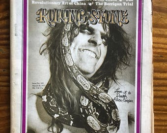 Rolling Stone Magazine 1972 ALICE COOPER