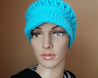 "Crochet ""Chunksta""Newsboy hat for women"