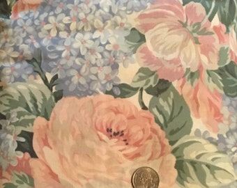 Y51, Large Floral Print, Pastels,  Hoffman Fabrics from Coventry Collection, by the yard