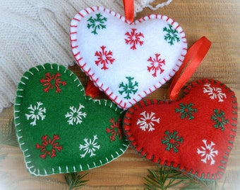 Heart ornament Felt Christmas decorations Felt wedding decoration for Valentine's day Christmas Baby home decor Birthday Love Heart ornament