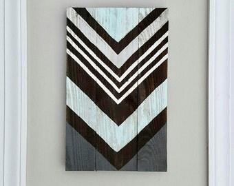 Chevron Wood Sign