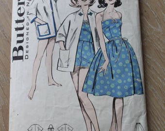 Butterick/ 9411/ Playsuit, Kimono Coat & Skirt Pattern/ Craft Supplies and Tools/ Patterns and How To/ Sewing Patterns/ Haberdashery (1806Z)