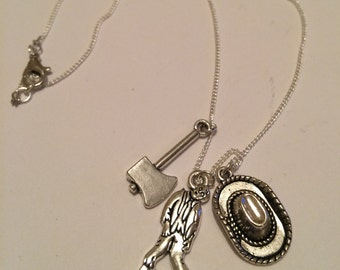 The Walking Dead inspired necklace, The walking Dead necklace, item 289 by CraftyLittleMonkeyGB