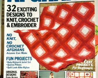 Spring 1984 Afghans Knitting and Crochet Pattern Magazine ReTrO!