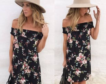 While Floral Dress