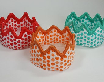 Small Dog Polka Dot Birthday Crown - Orange
