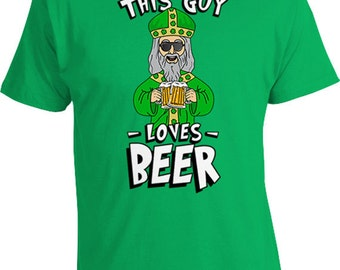 This Guy Loves Beer T Shirt St Patricks Day Shirt Beer Lover Gift Ideas For Men St Pattys Day TShirt St Paddys Day Outfit Mens Tee TGW-862