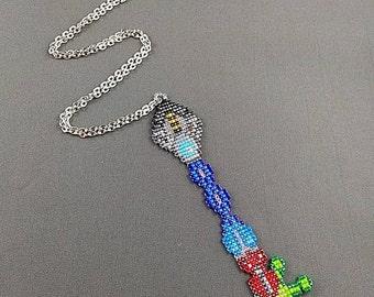 Hyperdrive Keyblade Necklace- Keyblade Necklace Lilo Stitch Keyblade Necklace Kingdom Hearts Jewelry Pixel Necklace Video Game Necklace