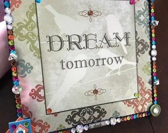 Dream Tomorrow birds metallic wall hanging