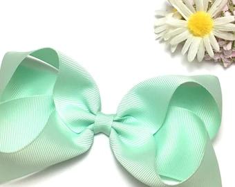 Boutique bow, large hair bow, big bows, baby headbands, dance bows, grosgrain ribbon, ribbon bows