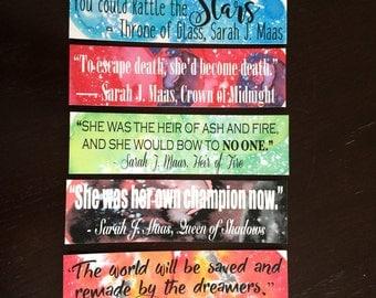 Throne of Glass Series Bookmark Set