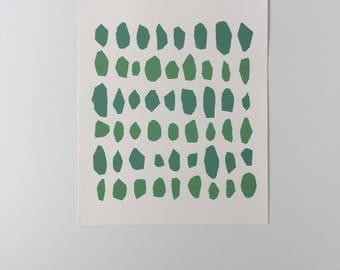 oval screen print - wall art, screen print,