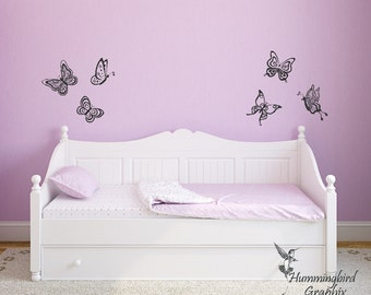 Butterfly Wall Decals, Butterfly Wall Decal, Butterfly Decals, Butterfly Stickers, Nursery Wall Decal, Child's Room Decal, Bedroom Decal