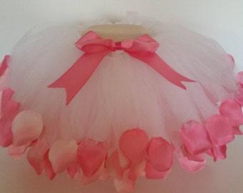 Spring Clearance!!!! Pink Rose Petal Tutu; Pink Rose Tutu; Cake Smash; Photo Prop; Toddler Tutu;Valentine's tutu;Valentine