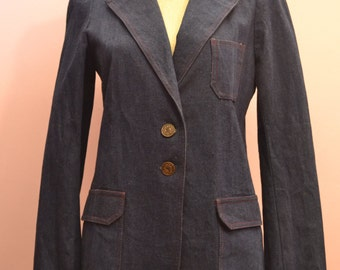 Denim blazer jacket by TOM BOY of California part lined with pockets