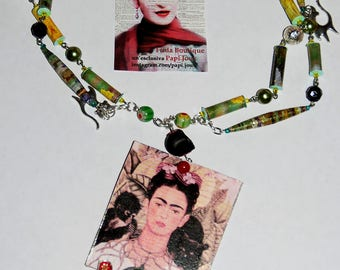 "Capsule collection ""Frida""-green necklace"