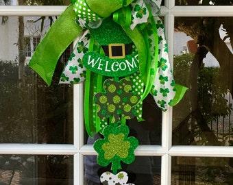 St. Patrick's Day Wreath, St. Patrick's Day, Front Door Wreath, Irish Clover Wreath, Shamrock Wreath, St. Patrick's Decoration, Gift for Her