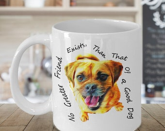 Pug, Pug Mug, Pug Gift, Cute Dog Mug, Rescue Dog