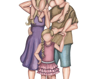 Family of Five (two daughters, one son)