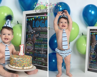 Birthday Chalkboard, Birthday Poster, Milestone Chalkboard, First Birthday Chalkboard, 1st Birthday, Girl or Boy, You Pick the Colors