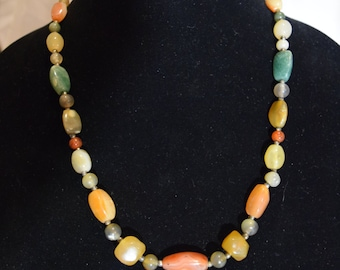 Multicolored Glass Bead Necklace
