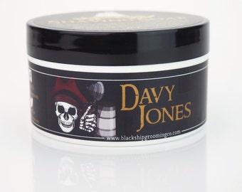 Davy Jones Shaving Soap, Men's Shaving Cream, Vegan Soap, All Natural Soap, Handmade Soap by Black Ship Grooming Co.