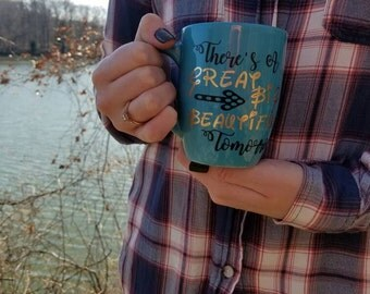 Disney inspired There's a great big beautiful tomorrow, coffee mug ; Disney coffee mug