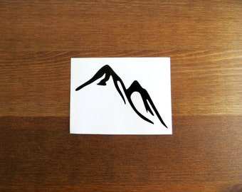 Mountain Vinyl Decal // Choose Your Color and Size