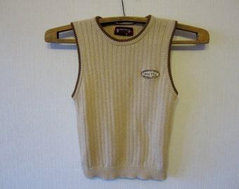 Beige Boys Sweater Vest Childrens Light Brown Waistcoat 83