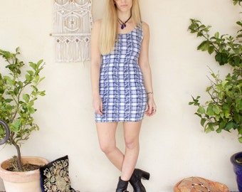 Vintage 90's Checked Body Con Dress