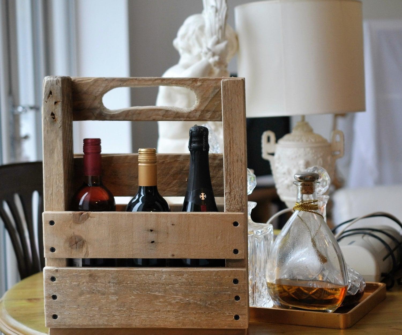 Repurposed Wine Bottle Holder