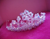 Swarovski crystal tiaraCrystal tiaraCrystal wedding tiaraBrides crystal tiaraSilver crystal tiaraProm tiara crystalSummer ball tiara