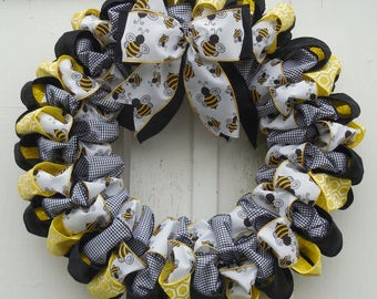 Busy Bee Ribbon Wreath