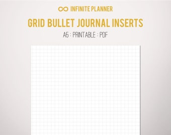 A5 Square Grid Page - Bullet Journal Printable