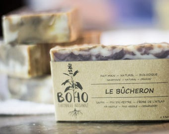 The lumberjack / natural, organic, handmade soap, sensitive skin, vegan, human skin, eco-friendly, biodegradable, wave contest