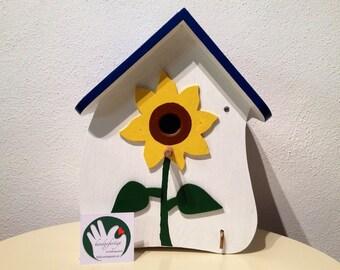 Birdhouse / Bird House - sunflower - handmade